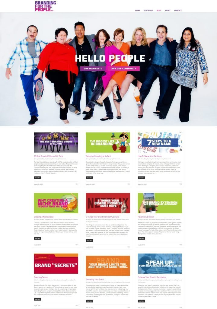 Branding For The People Blog