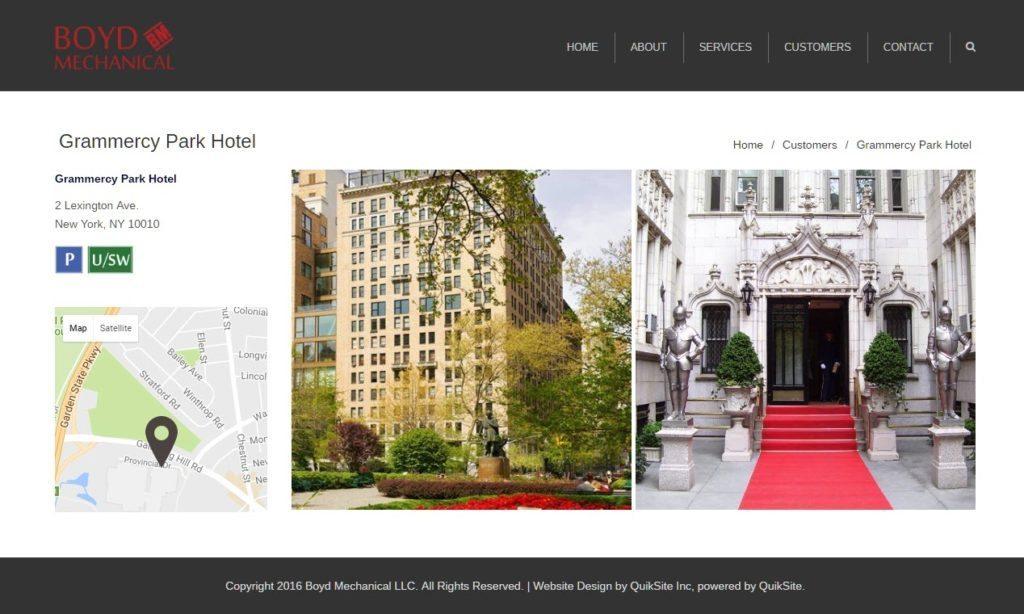Boyd Mechanical Portfolio Client Site