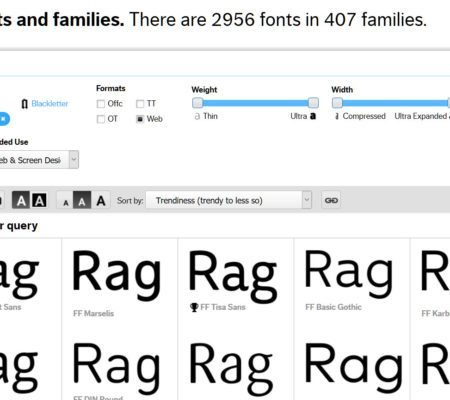 FontFont Selection