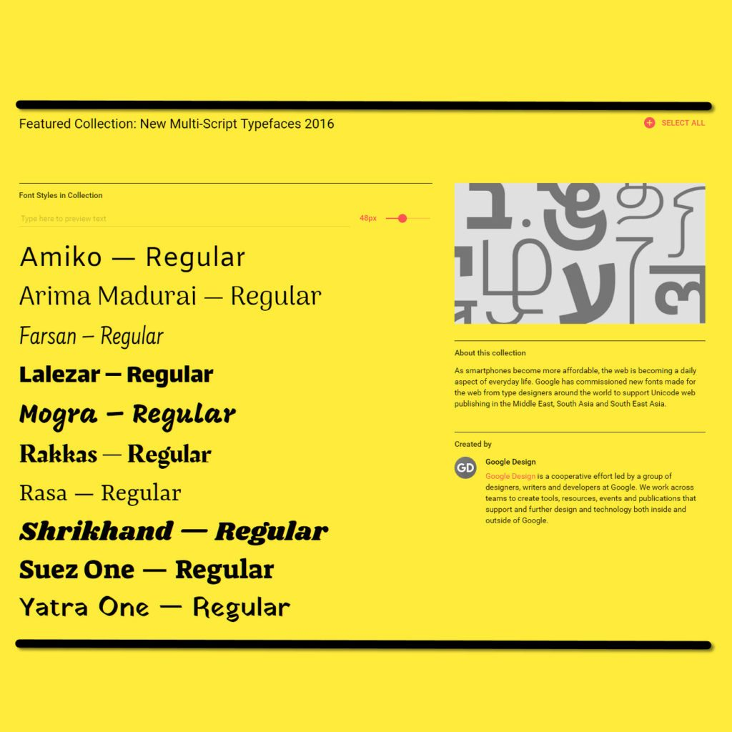 Google Font Collection