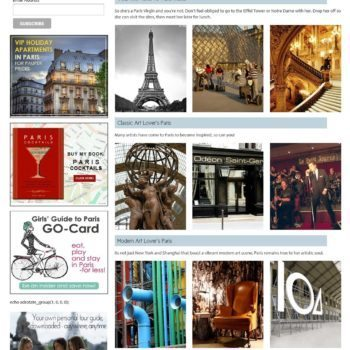 Girls Guide To Paris Itineraries Page