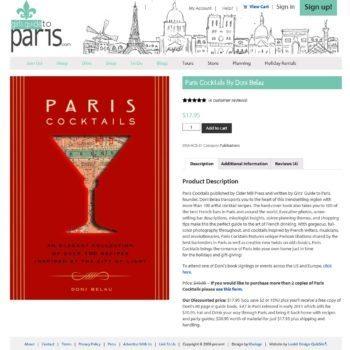 Girls Guide To Paris Shopping Cart Book
