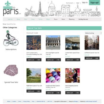 Girls Guide To Paris Shopping Cart Tour Sets