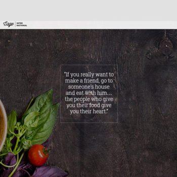 International Restaurant Website
