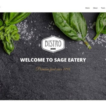 bistro website design