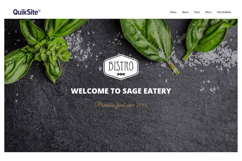 bistro website design