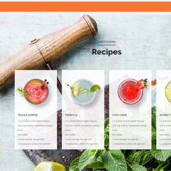 Cocktail Bar Website
