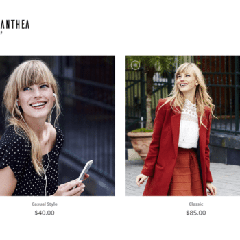 fashion store website design