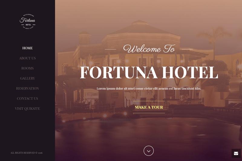 luxury hotel website
