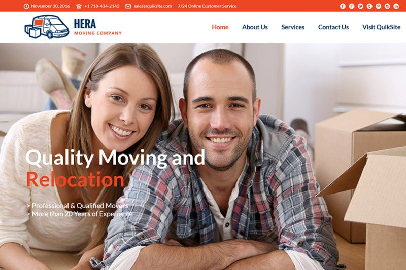 Moving Service Website