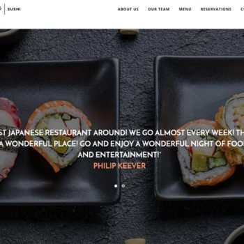 Sushi Restaurant Website Design
