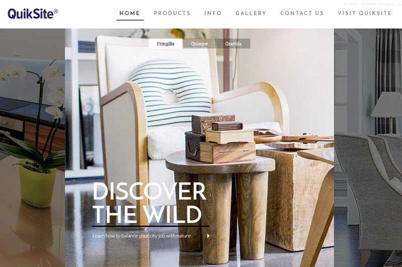 Home Decor Website by QuikSite - Real Estate, Shopping, Web Design